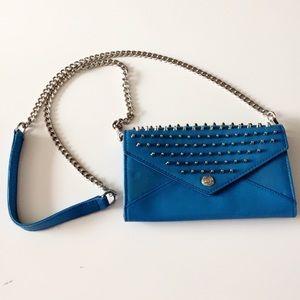 Rebecca Minkoff Studded Crossbody Wallet on Chain